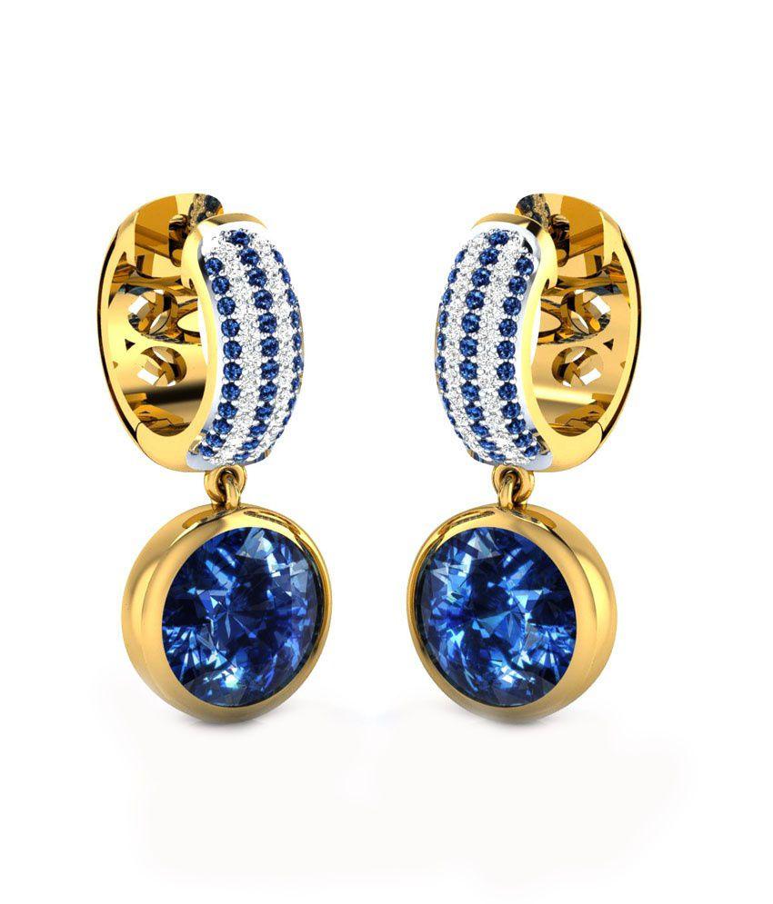 Caratopia Nice Gold Drop Earrings