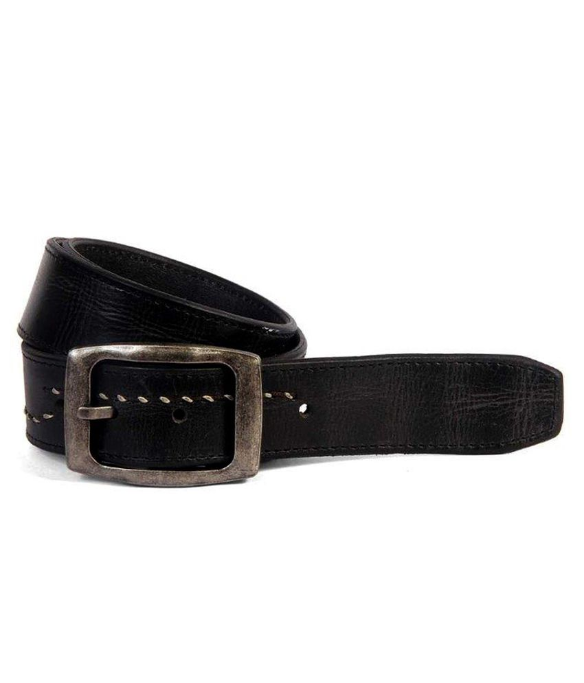Leather Talks Black Leather Belt