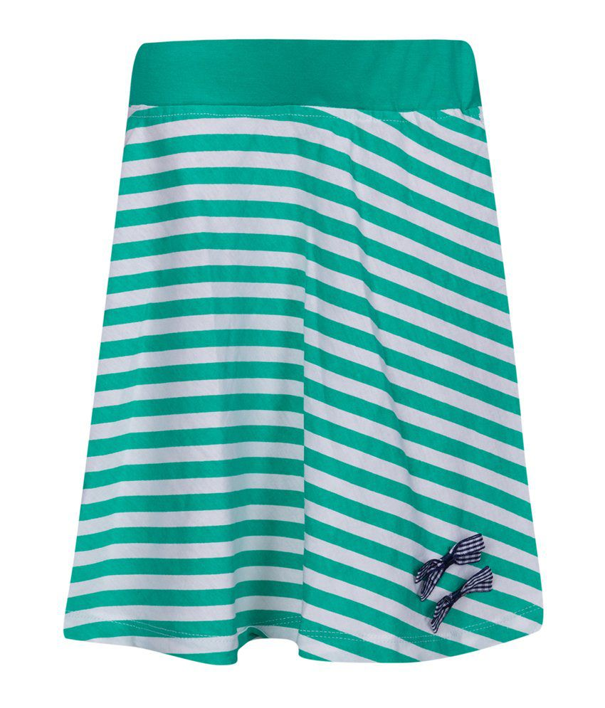 Miss Alibi Green Cotton Skirt