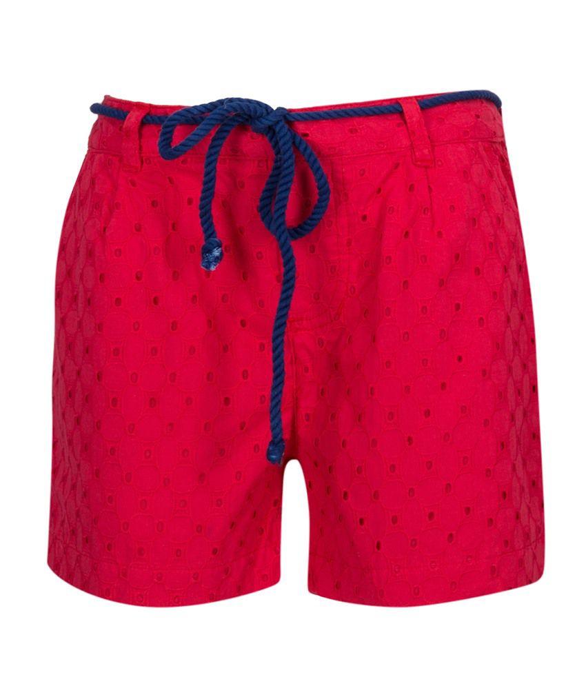 Miss Alibi Pink Cotton Shorts