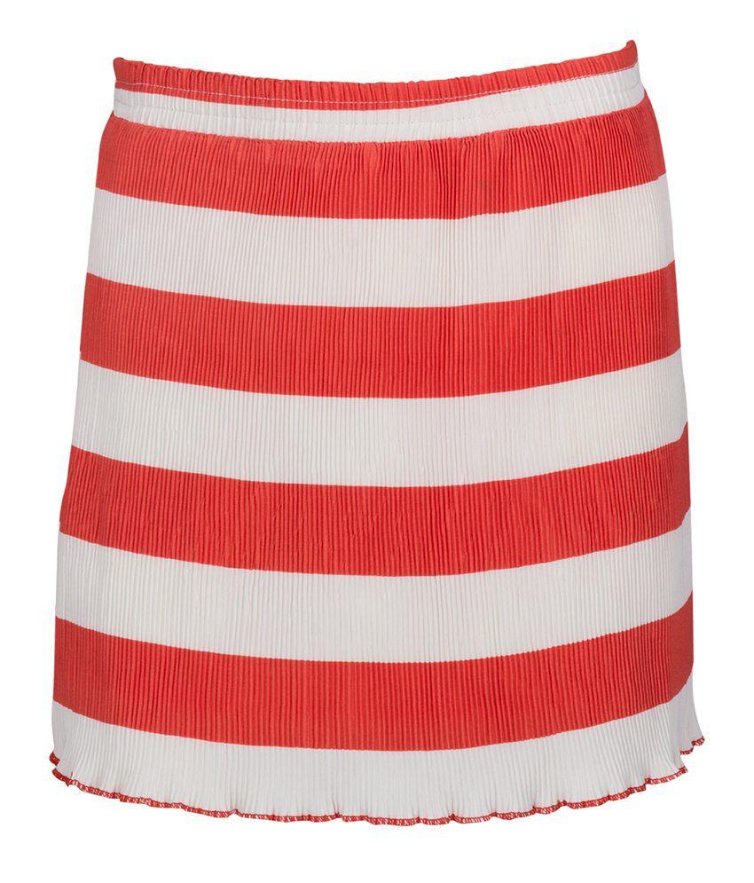 Miss Alibi Red Cotton Skirt