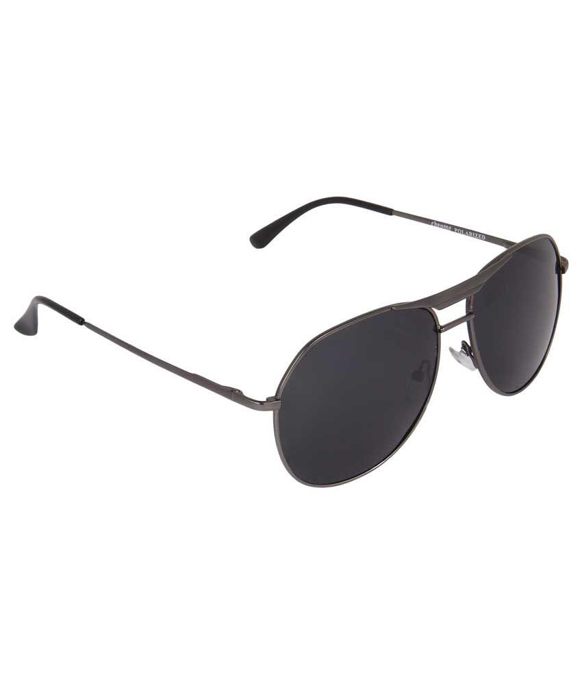Mount Track AV-PO_202 Black Aviator Medium Sunglasses