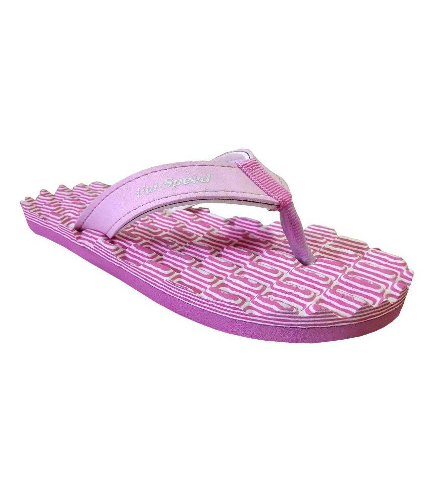 Unispeed Foot Massage + Accupressure Flipflops (Pink)