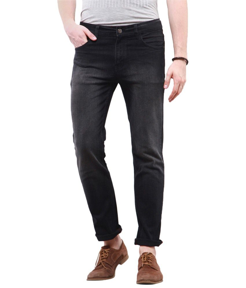 Yepme Addison Black Regular Fit Denims
