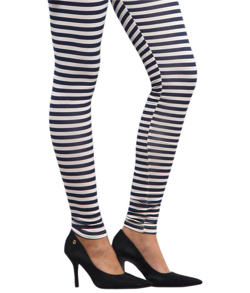 Yepme Alexis Blue & White Zebra Print Leggings Price in India ...