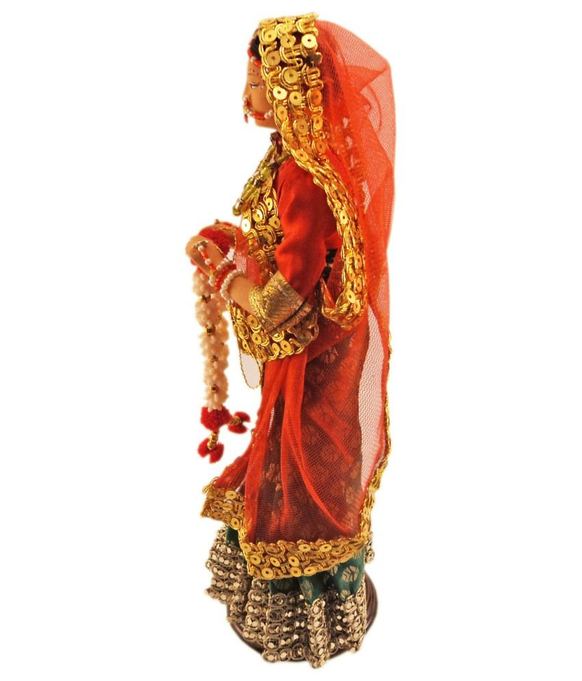 Handmade Rajasthani Art Work Doll Showpiece Home Decor