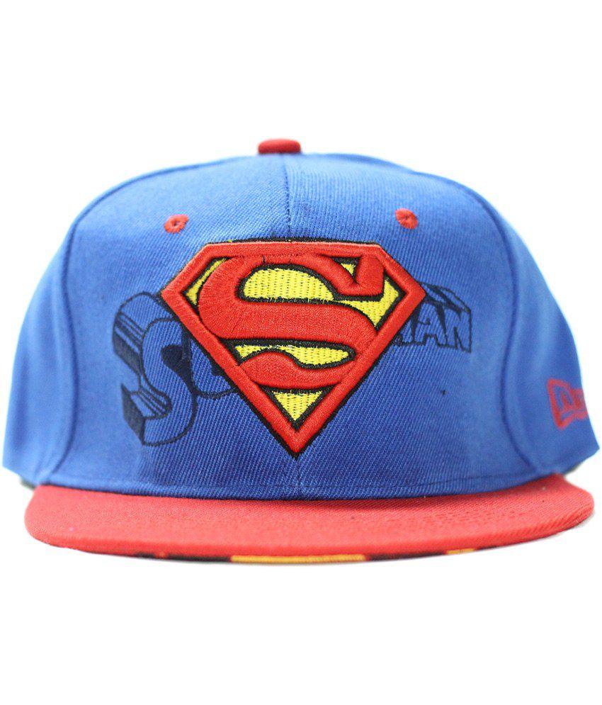 Multibrand Blue Cotton Hiphop Cap for Men