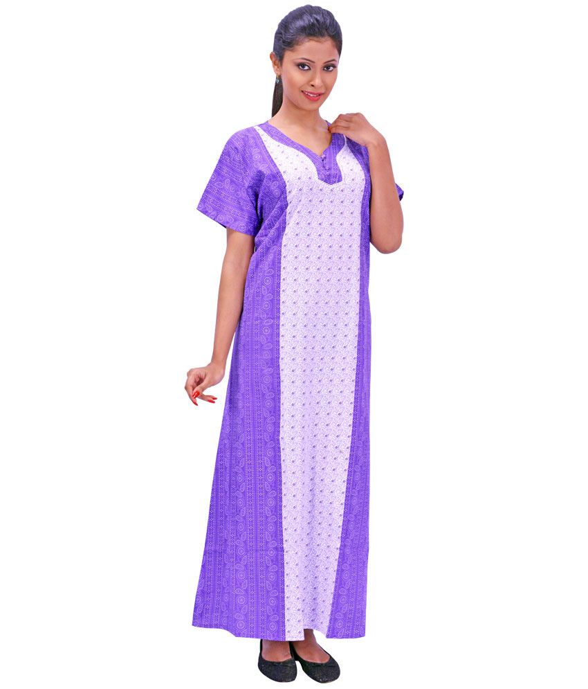 ... 6 Niharika Multi Color Cotton Nighty   Night Gowns Pack ... ef8d35e8d