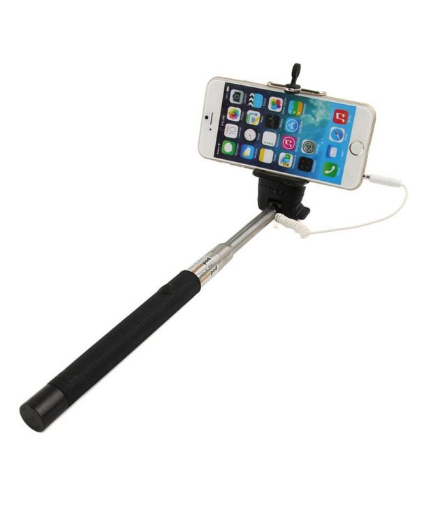 unique selfie stick monopod for ios android black selfie sticks accessories online at low. Black Bedroom Furniture Sets. Home Design Ideas