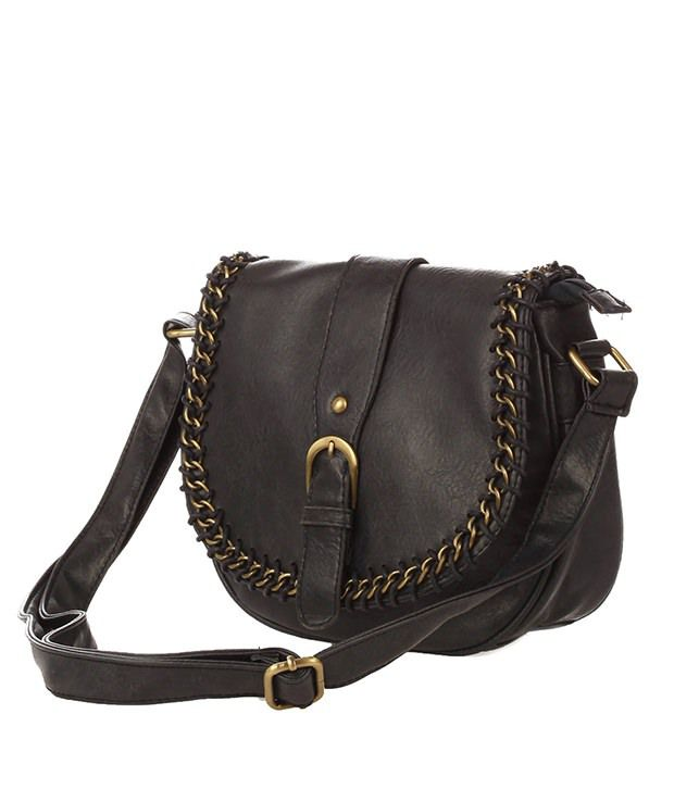 Vero Couture Knitted Chain Sling Bag