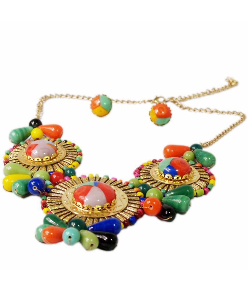 VR Designers Elegant Multicolor Bold Necklace Set