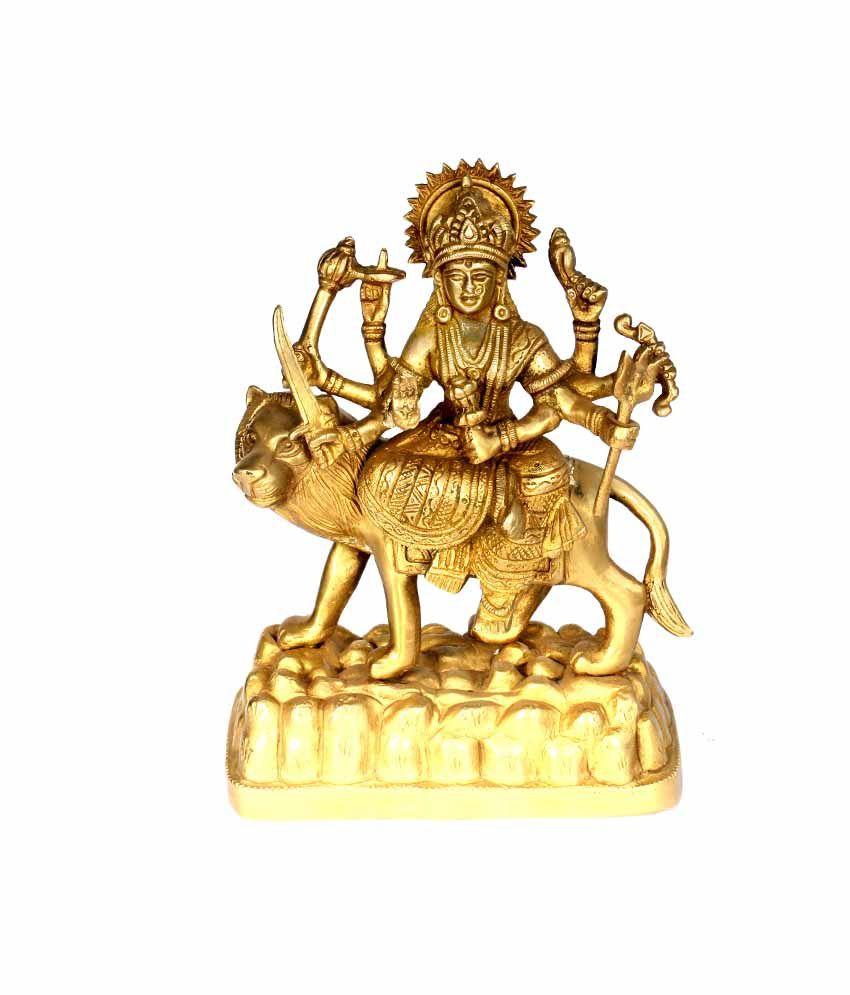 SKM Glossy Brass Idol Durga Ji Spl 6