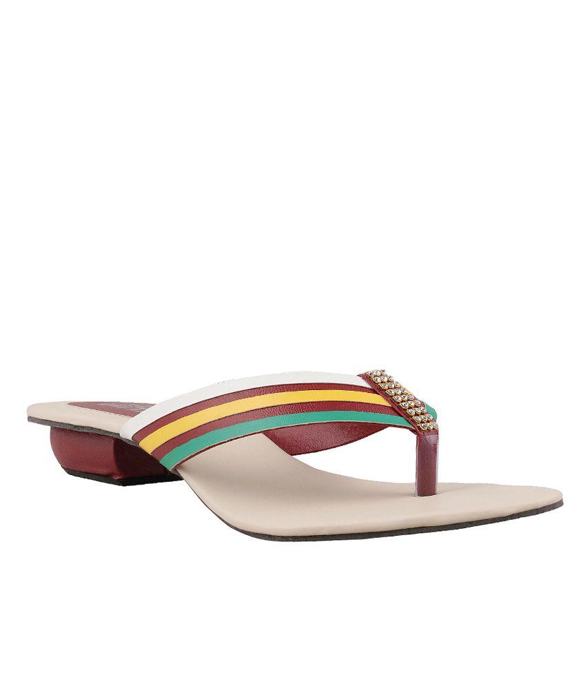 Trewfin Multicoloured Heeled Slip On