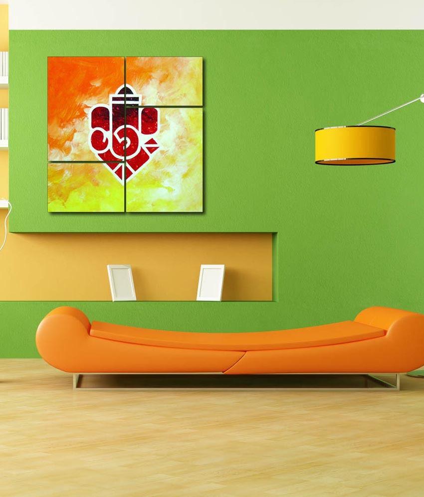 999store Glossy Printed Ganesha Like Modern Wall Art Painting With Frame - 2 Frames