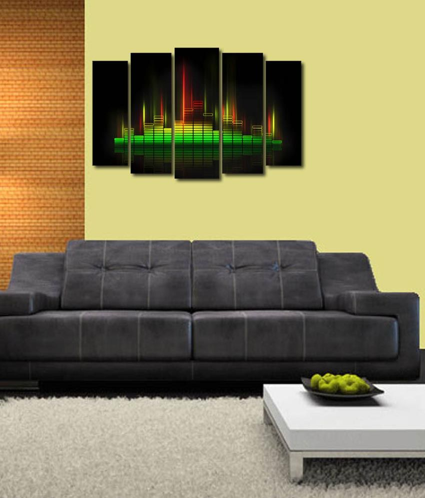 999store Glossy Printed Music Lights Design Like Modern Wall Art Painting With Frame