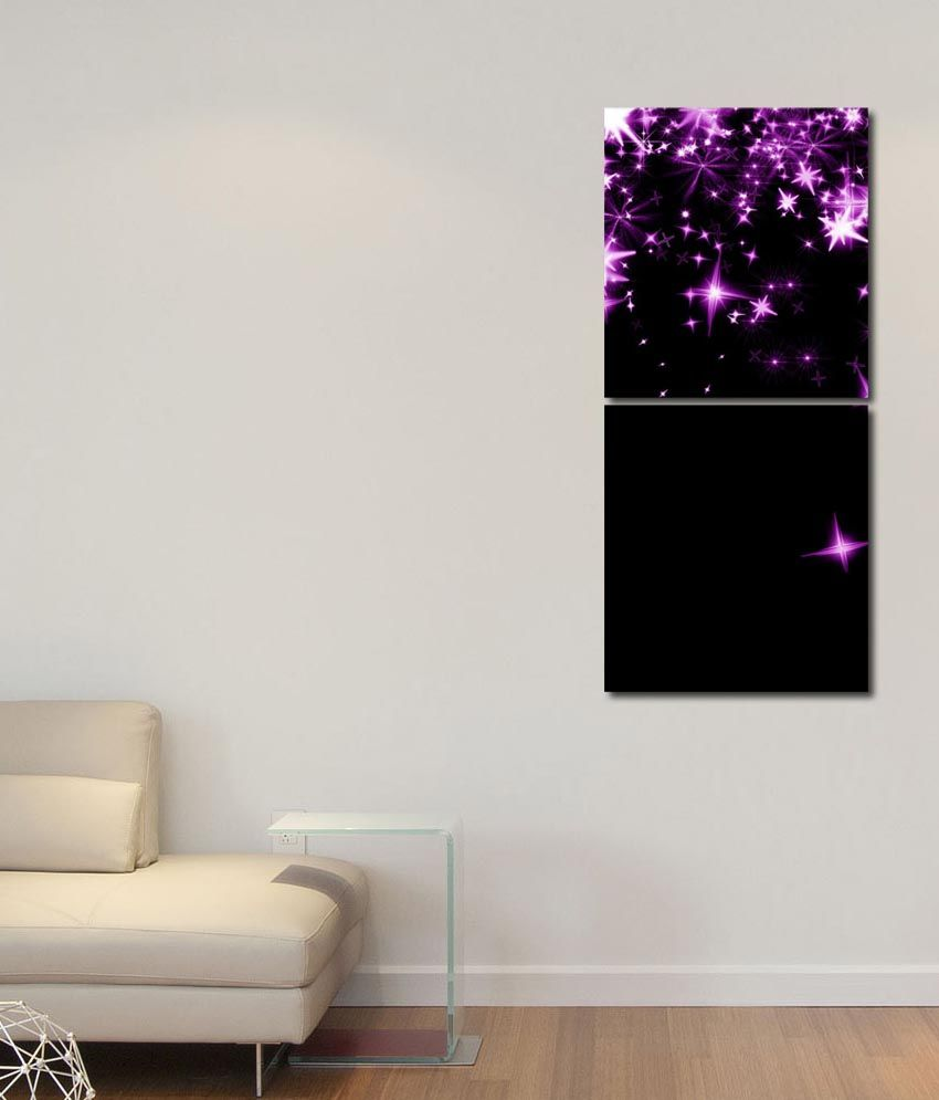 999store Glossy Printed Star In The Sky Wall Art Painting With Frame -2 Frames