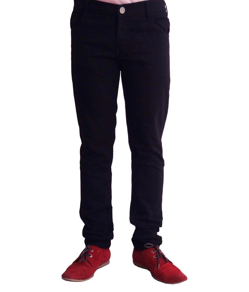 Club Vintage Black Cotton Jeans