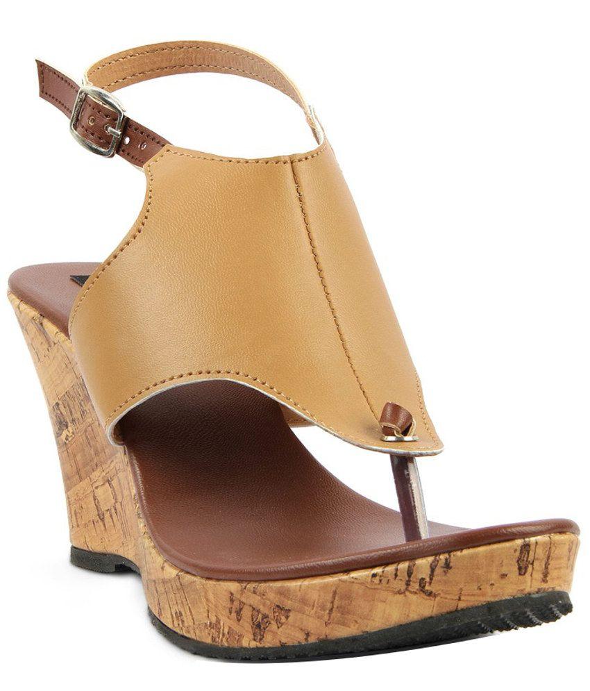 Kielz Alluring Beige Heeled Sandals