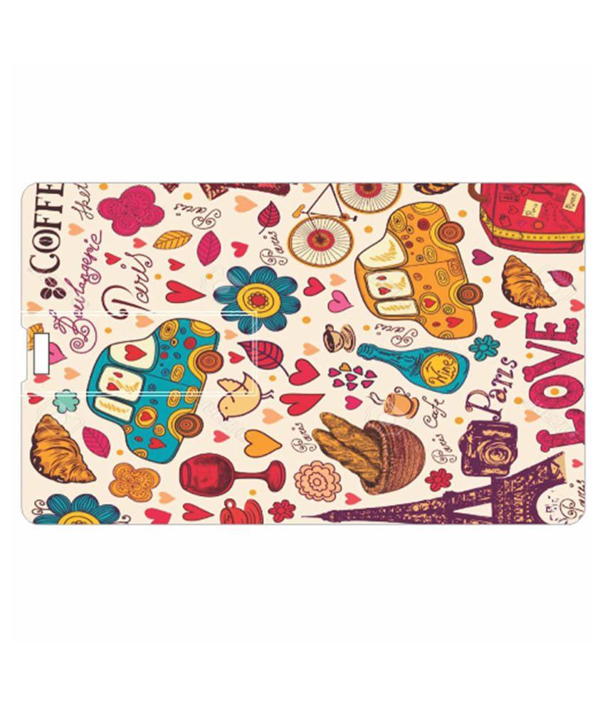 Printland Love For Coffee 8 GB Pen Drives Multicolor