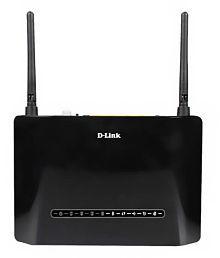 D-Link DSL-2750U Wireless N 300 ADSL2+ 4-Port Wi-Fi Router with Modem-Black