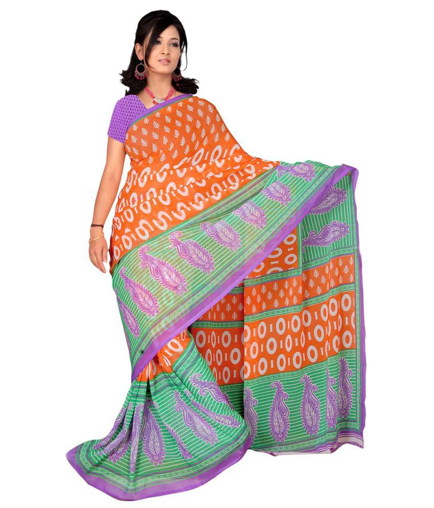 Jiya Multicoloured Georgette Saree