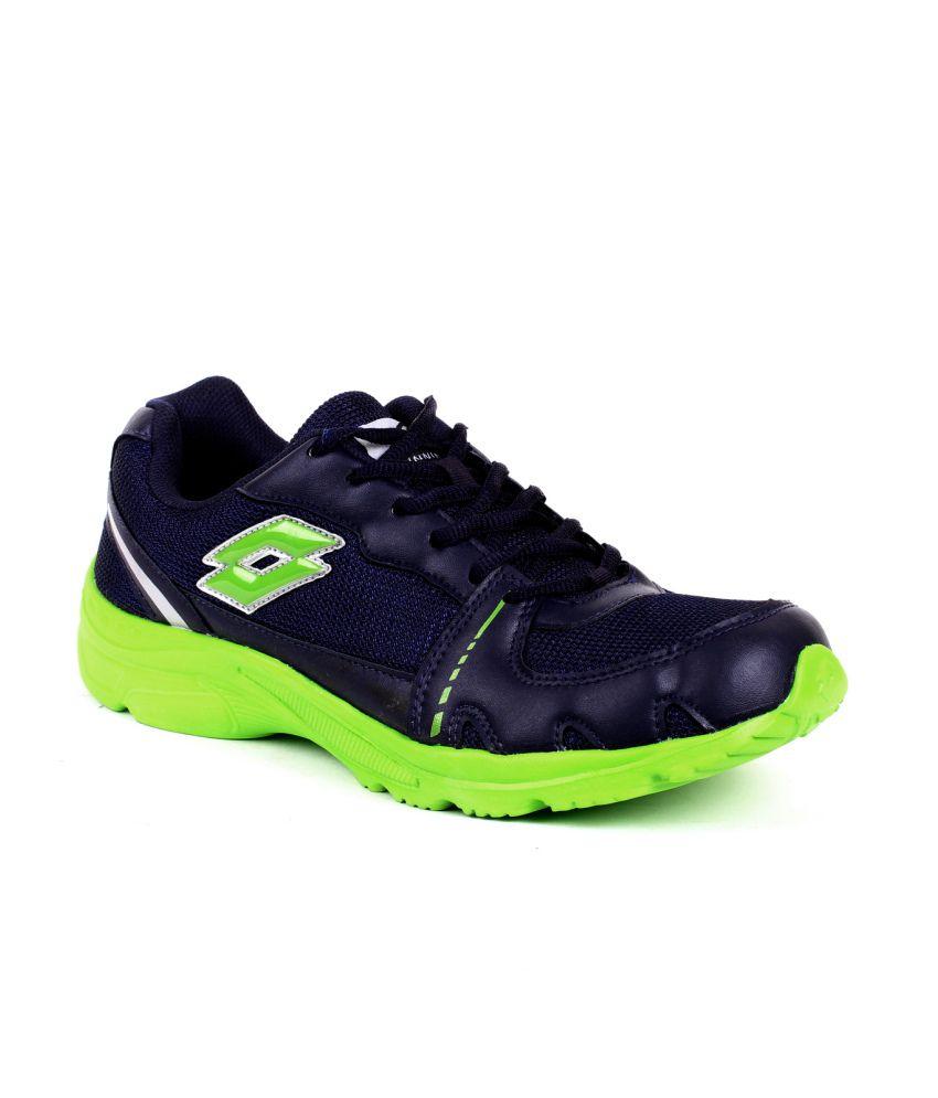 Lotto Blue Mesh Textile Sport Shoes