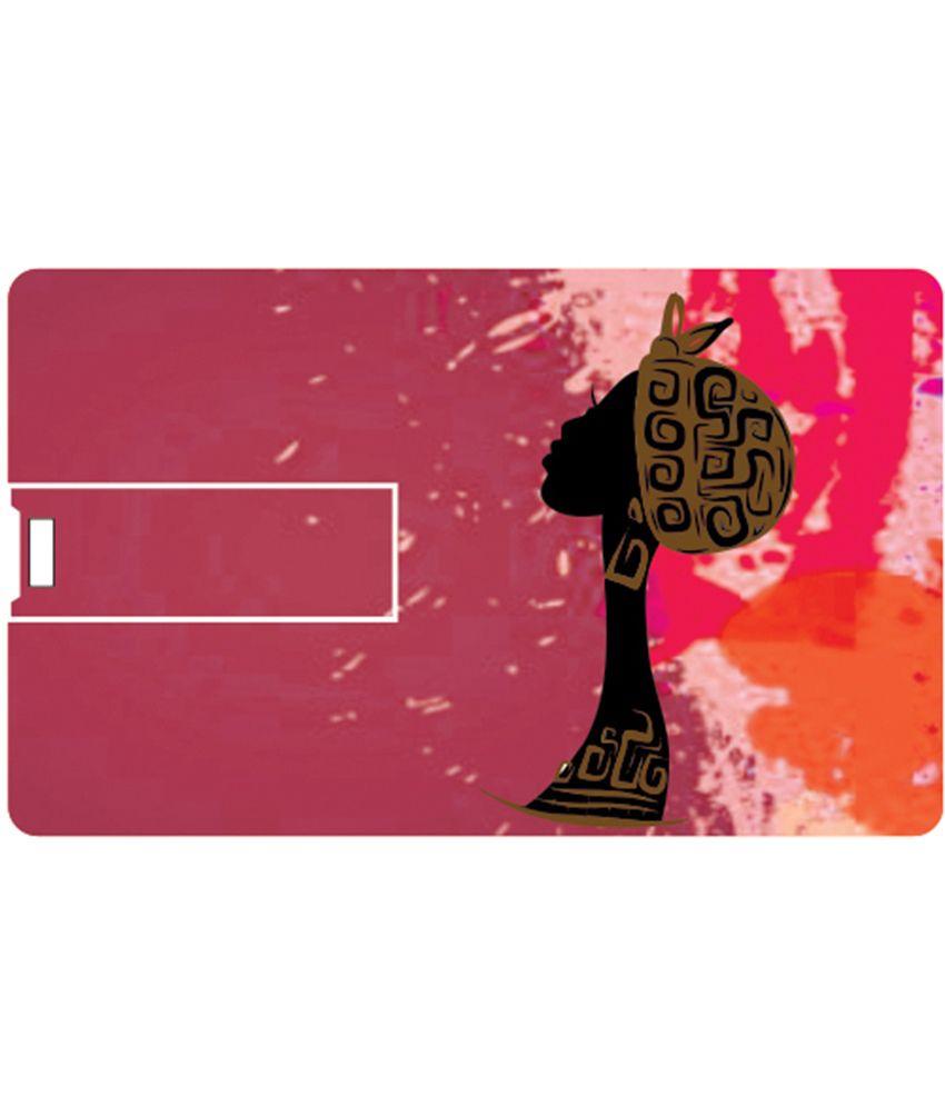 Printland Pink 8 GB Pen Drives Multicolor