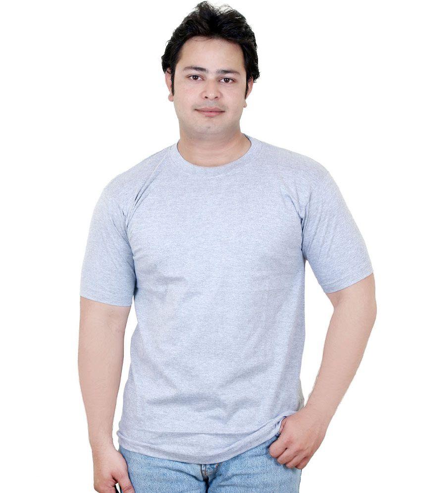 Trilex Gray Color Cotton T-shirt