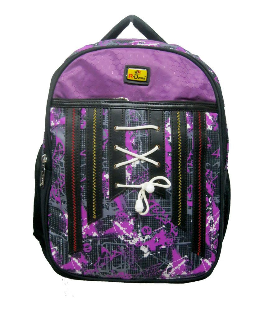 R-Dzire Purple P.U. Water Resistant Laptop Bag
