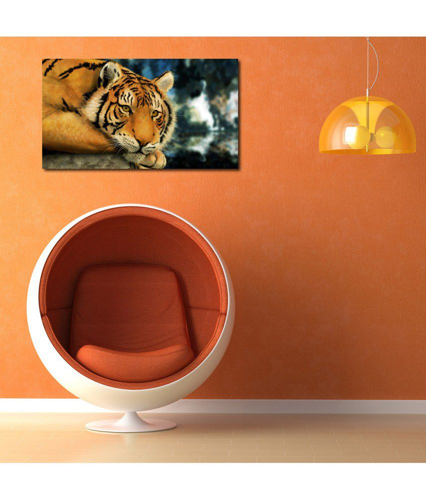 999Store Tiger Printed Modern Wall Art Painting - Large Size
