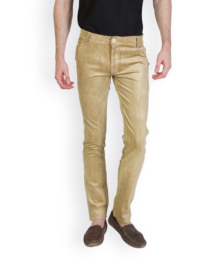 Bloos Jeans PeachPuff Cotton Blend Slim Fit Corduroy