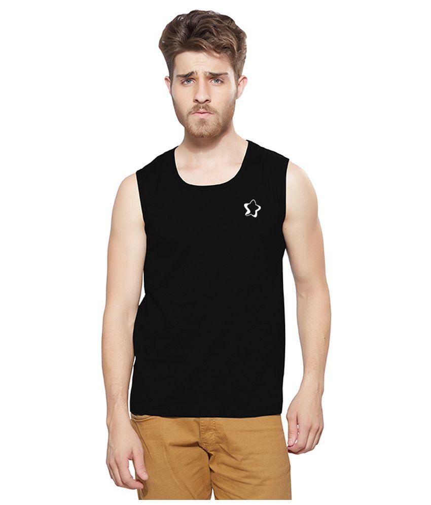 fee7efc6 Hbhwear Black Cotton Round Neck Sleeveless T Shirt For Men - Buy Hbhwear  Black Cotton Round Neck Sleeveless T Shirt For Men Online at Low Price -  Snapdeal. ...