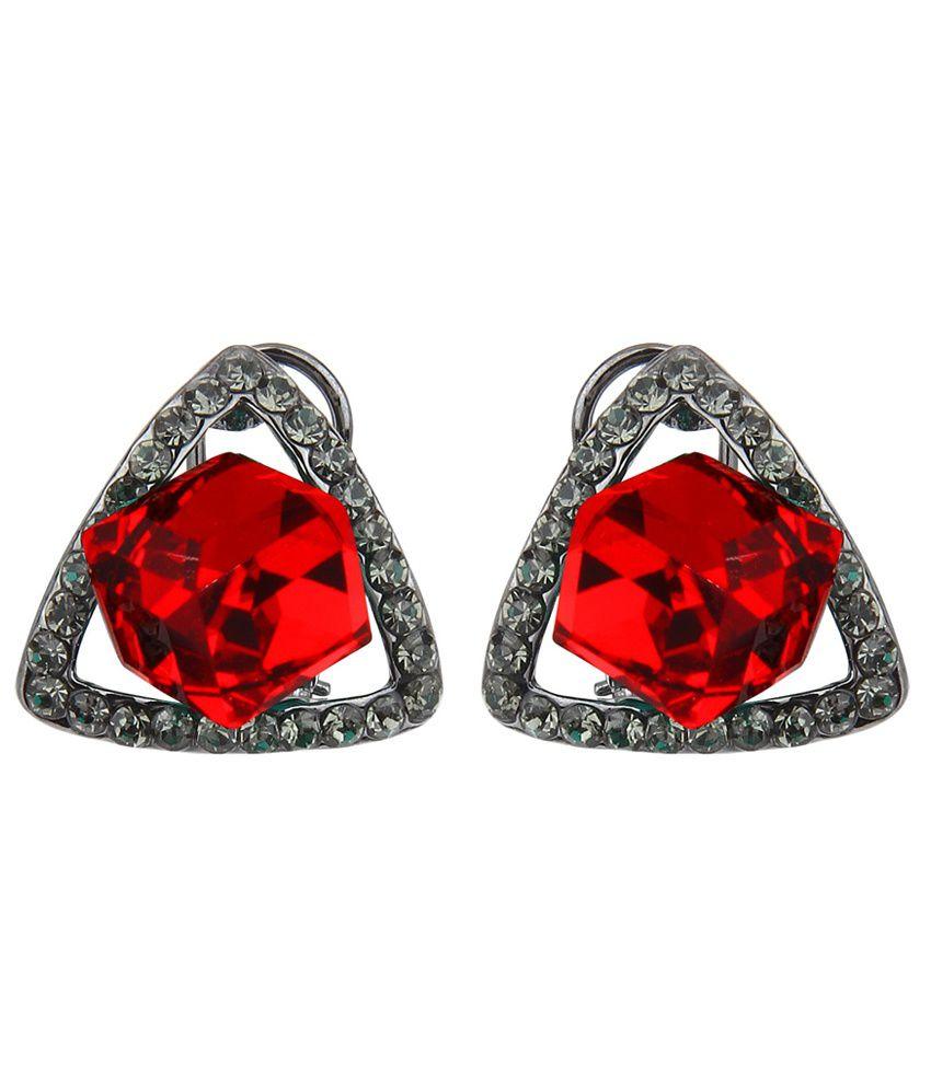 Moedbuille Marvelous Red Designer Style Diva Earrings