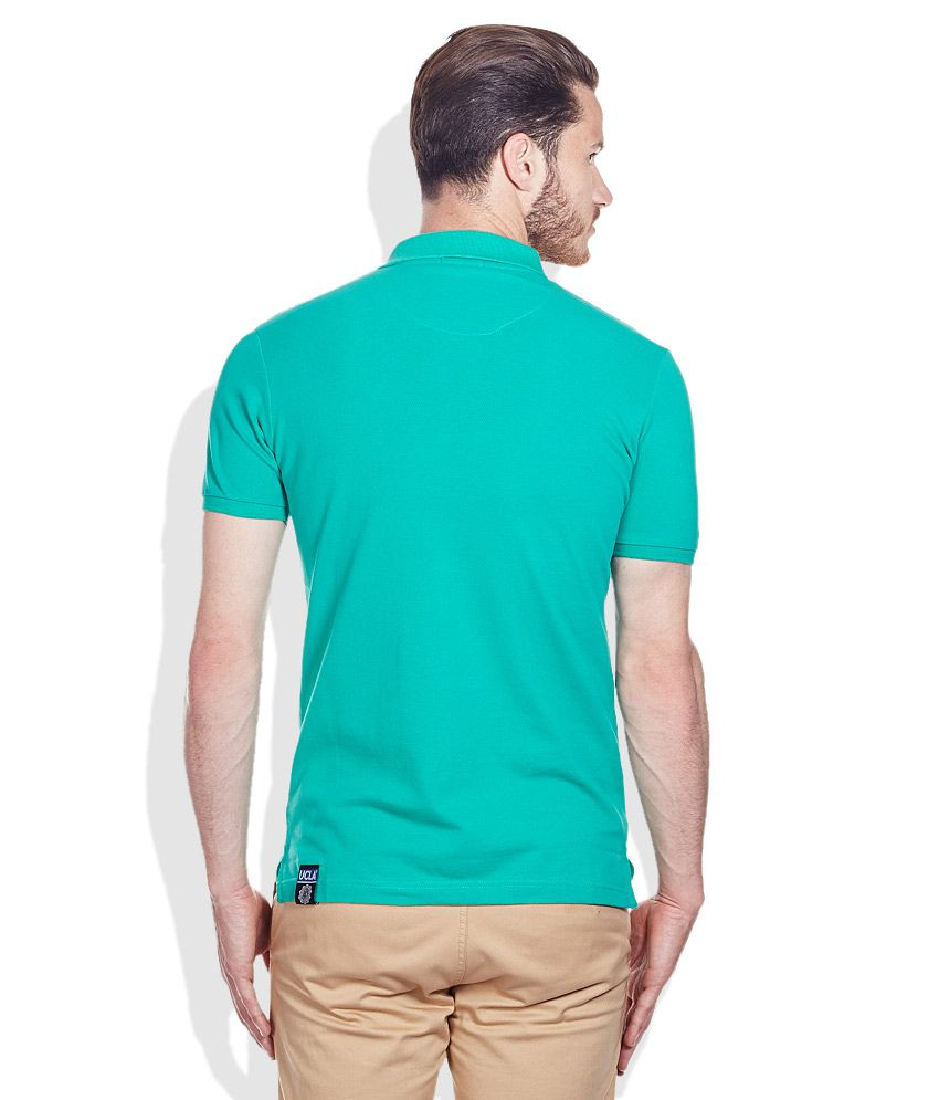 48dbff5ed UCLA Green Solid Cotton Polo T-Shirt - Buy UCLA Green Solid Cotton ...