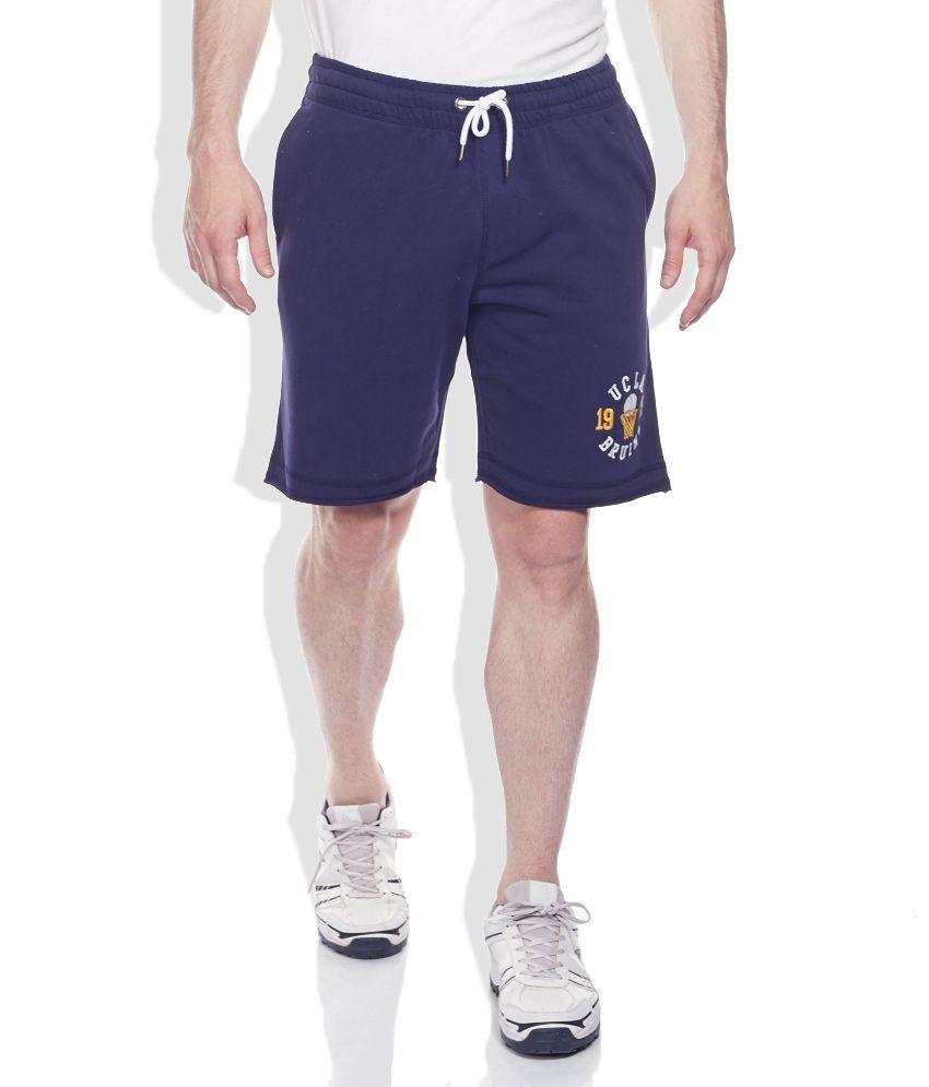 UCLA Navy Solid Shorts