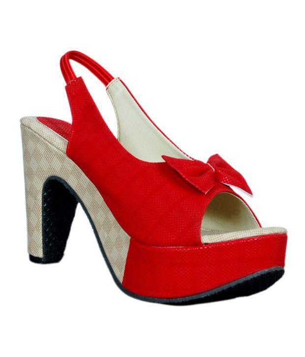 Jipsi Red High Heel Sandals