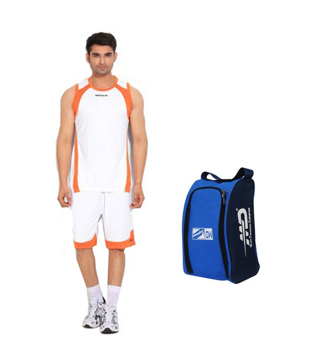 NIVIA & M.D. White and Orange Basket Ball Phantom Kit with Hand Bag