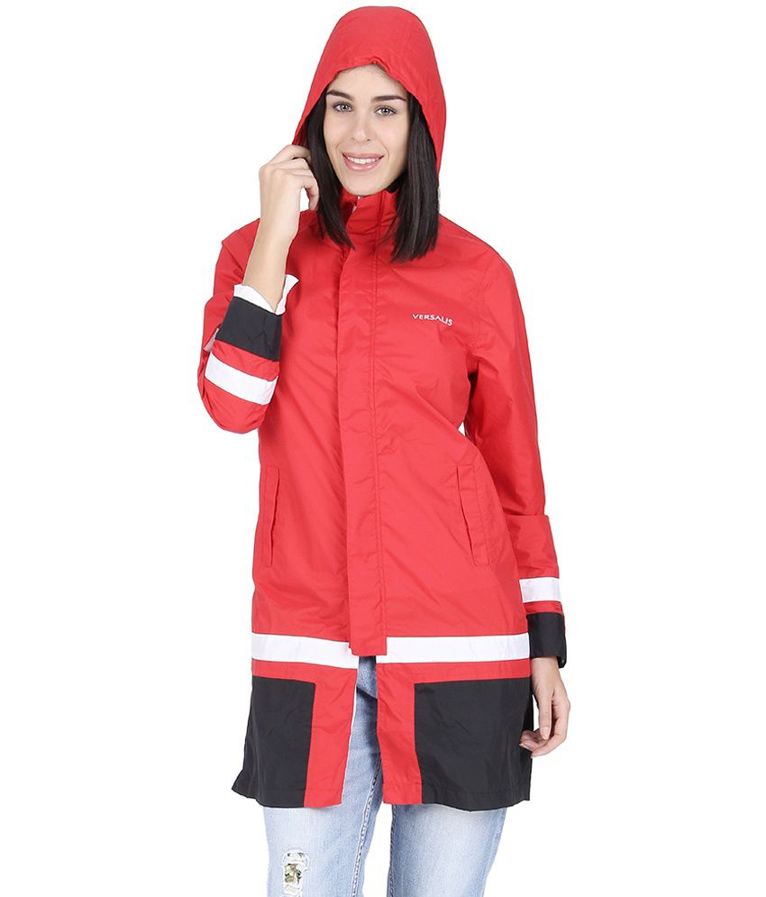 Versalis red waterproof long Raincoat