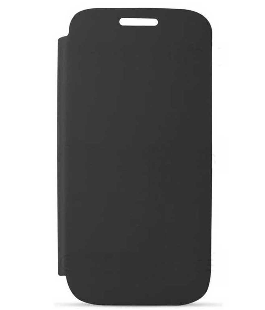 Fortune Hard Shell Flip Cover For Gionee Ctrl V4 - Black