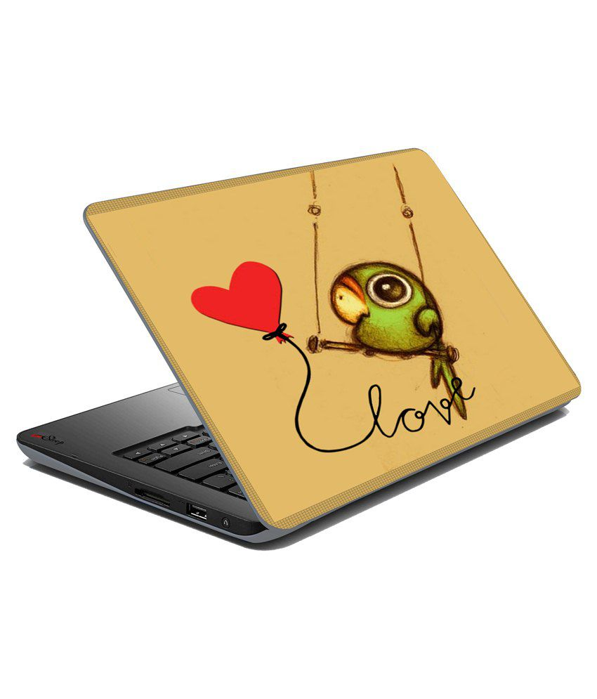 Mesleep Love Bird Laptop Skin Multicolour