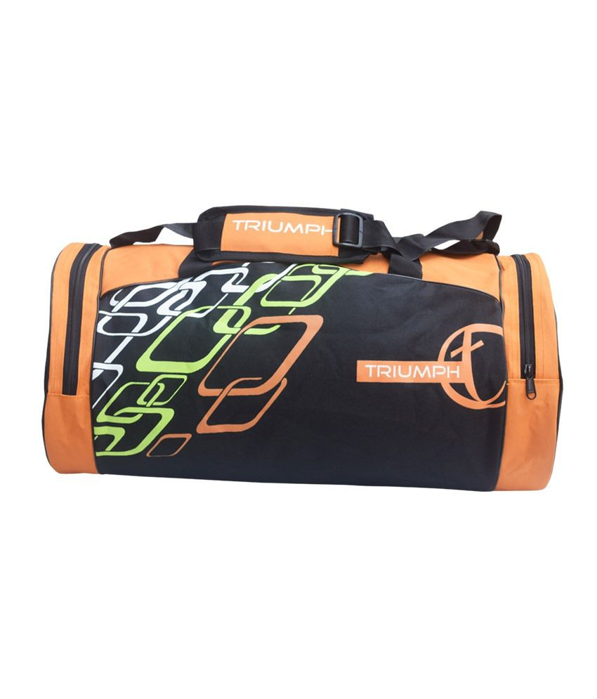 Triumph Multipurpose -Black & Orange Gym Bag