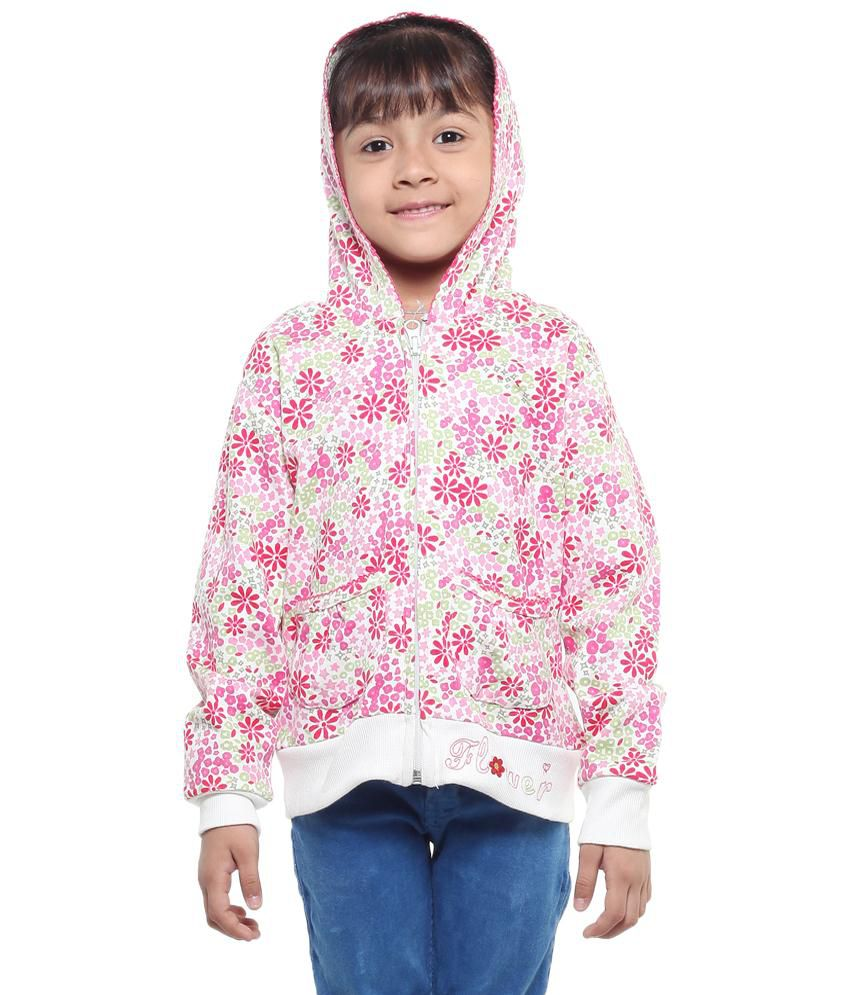Stop By Shoppers Stop Pink Cotton Sweatshirt For Girls