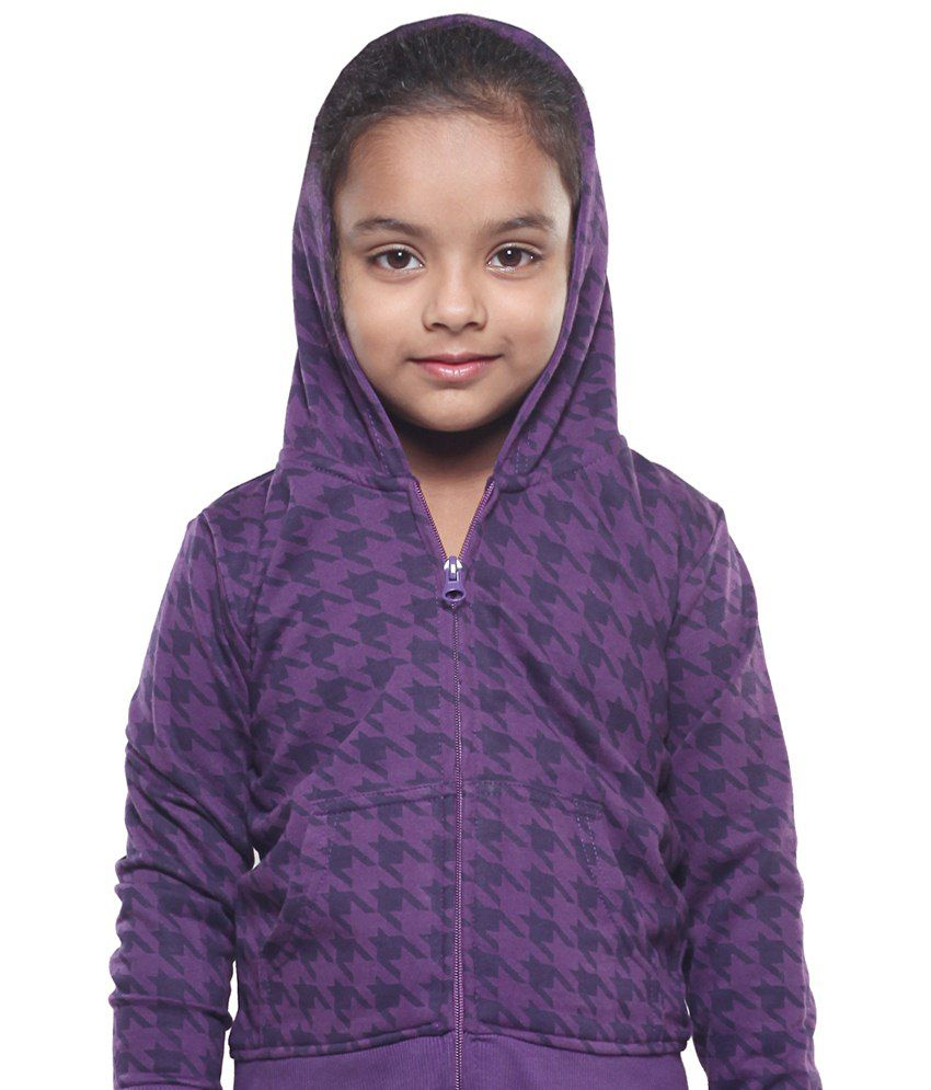 Stop By Shoppers Stop Purple Cotton Sweatshirt For Girls
