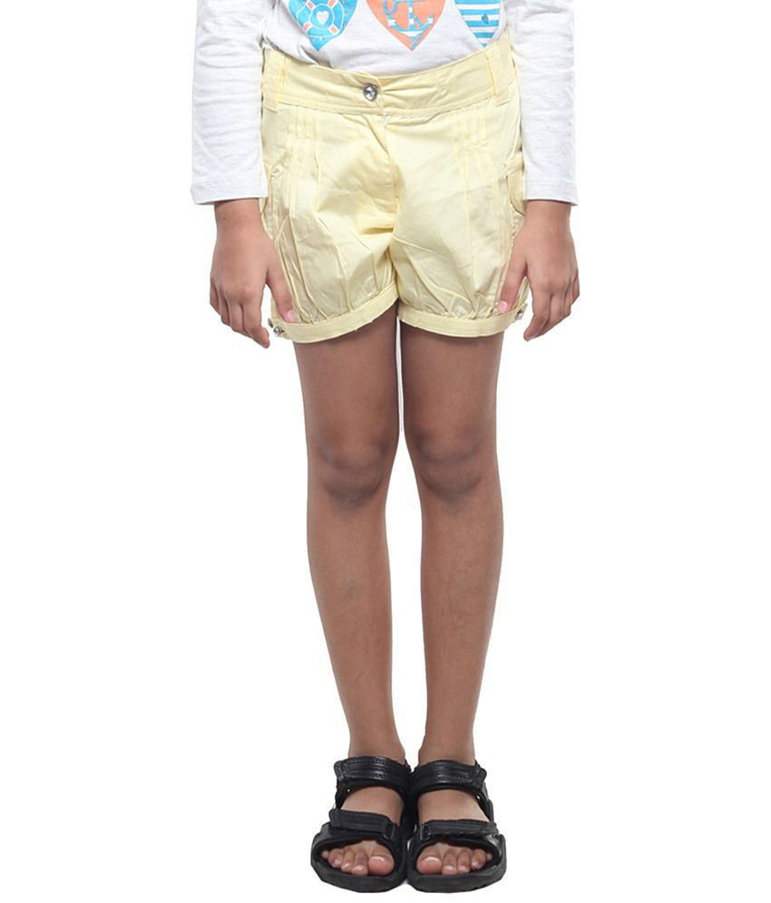 Stop By Shoppers Stop Yellow Shorts For Girls