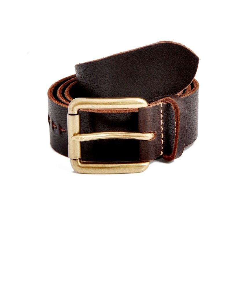 Stylox Brown Leather Casual Adorable Belt for Men