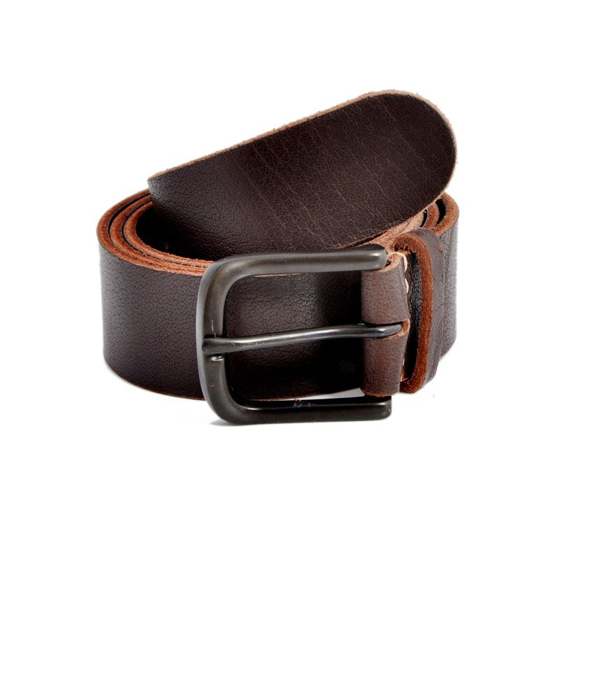 Stylox Brown Leather Casual Stunning Belt for Men