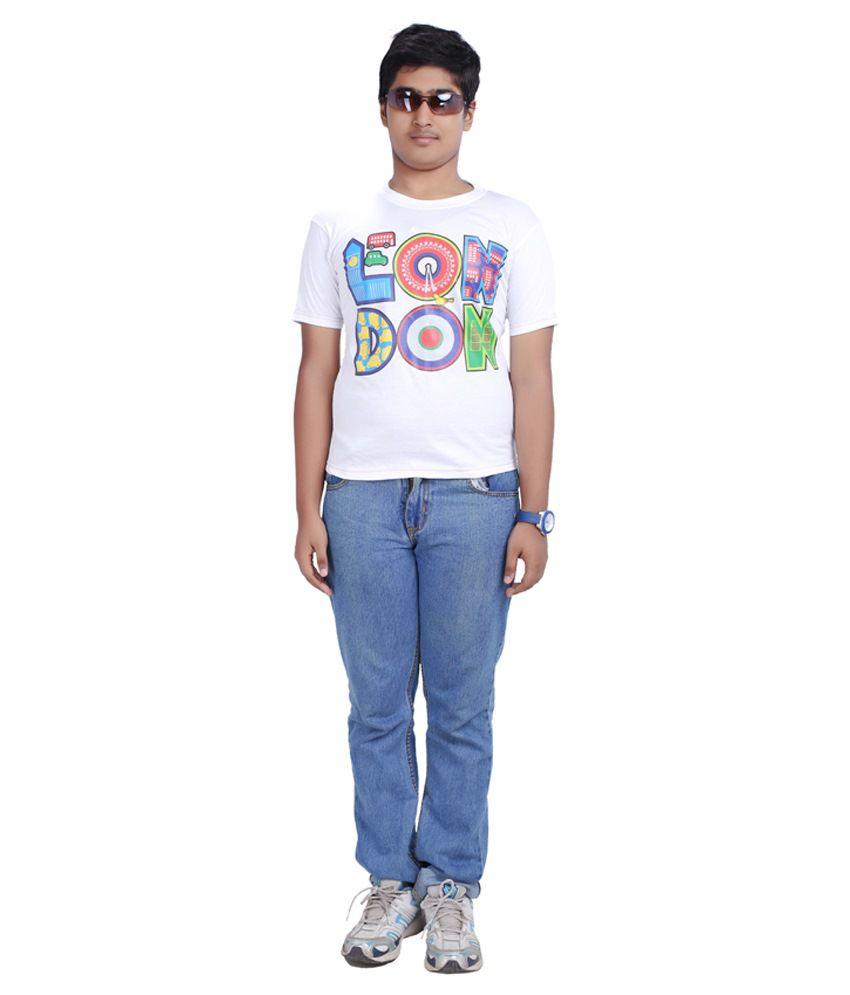D'Rik White Cotton T Shirt