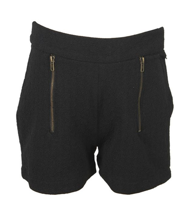 Eight26 Black Cotton Shorts