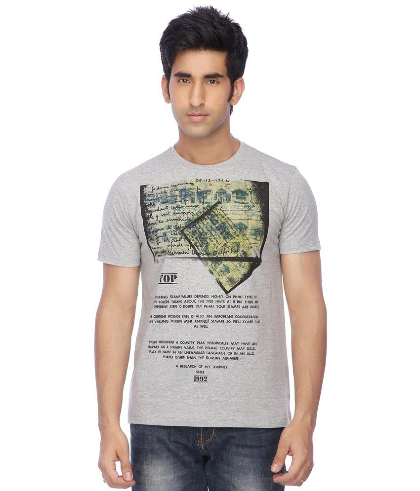 Stop By Shoppers Stop Gray T-shirt