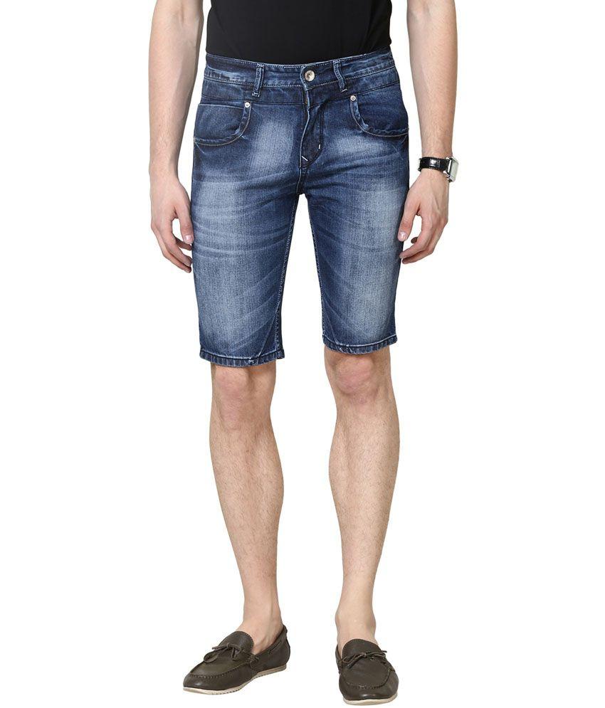 3concept Blue Cotton Shorts